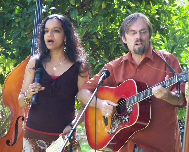 Malini and Greg singing