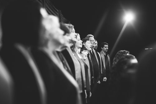 choir black and white